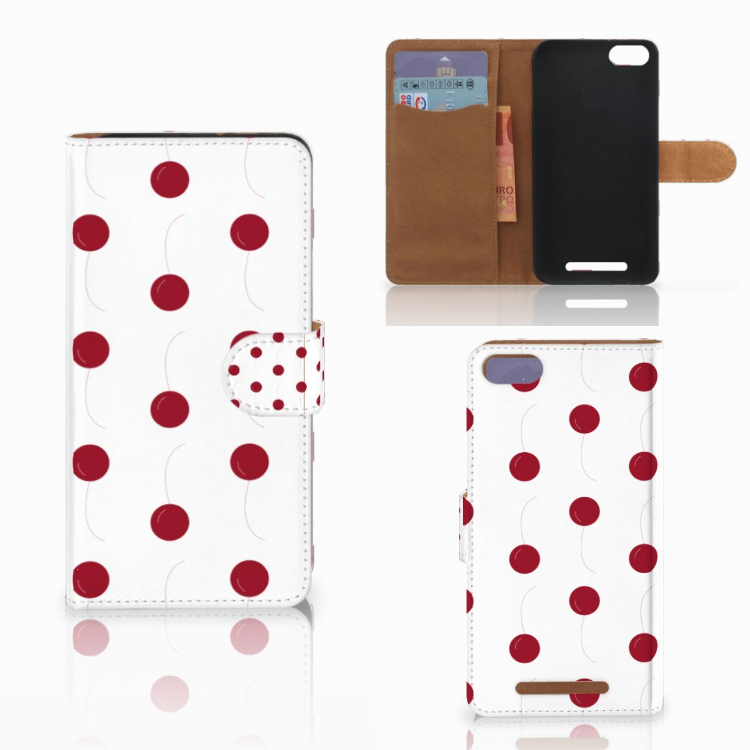 Wiko Lenny 3 Book Cover Cherries