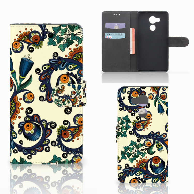 Wallet Case Huawei Mate 8 Barok Flower