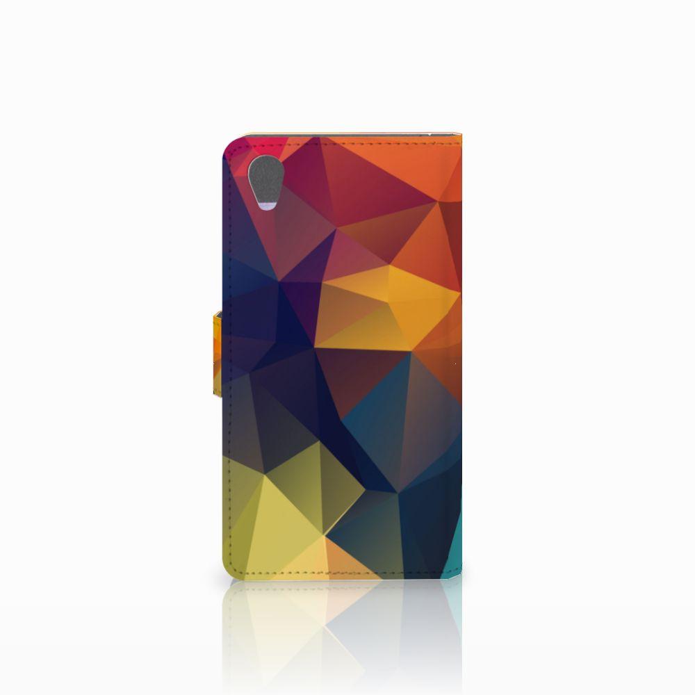 Sony Xperia Z1 Bookcase Polygon Color