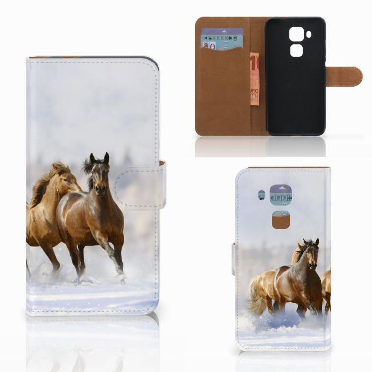 Huawei Nova Plus Telefoonhoesje met Pasjes Paarden