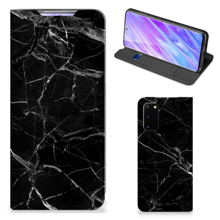 Samsung Galaxy S20 Standcase Marmer Zwart - Origineel Cadeau Vader