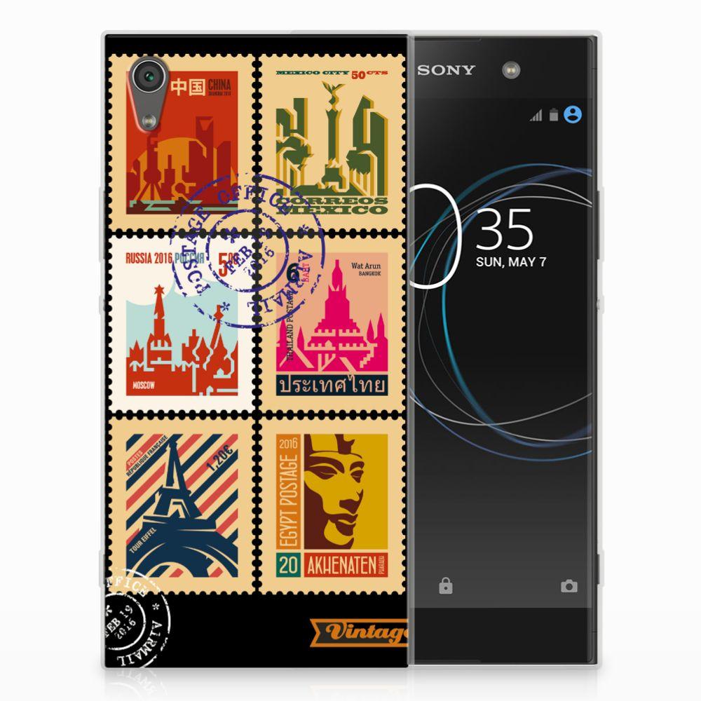 Sony Xperia XA1 Ultra Uniek TPU Hoesje Postzegels