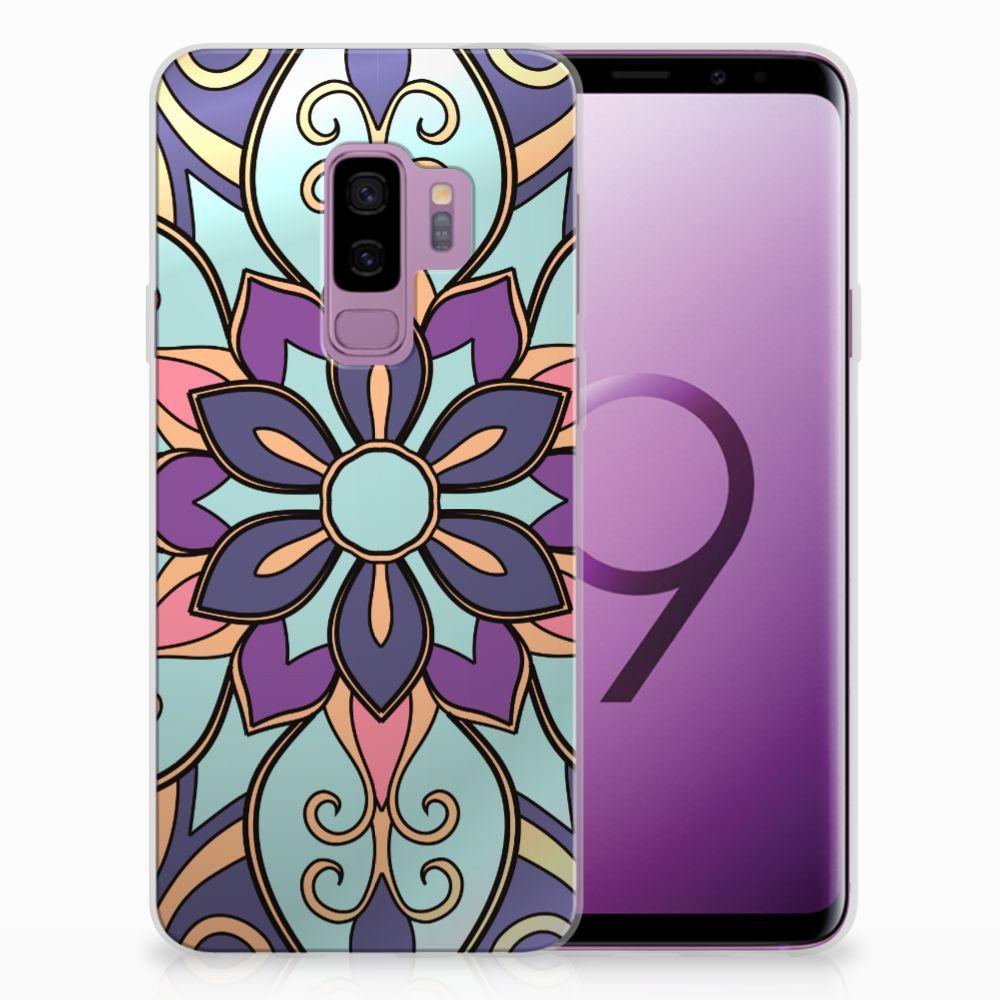 Samsung Galaxy S9 Plus TPU Hoesje Design Purple Flower