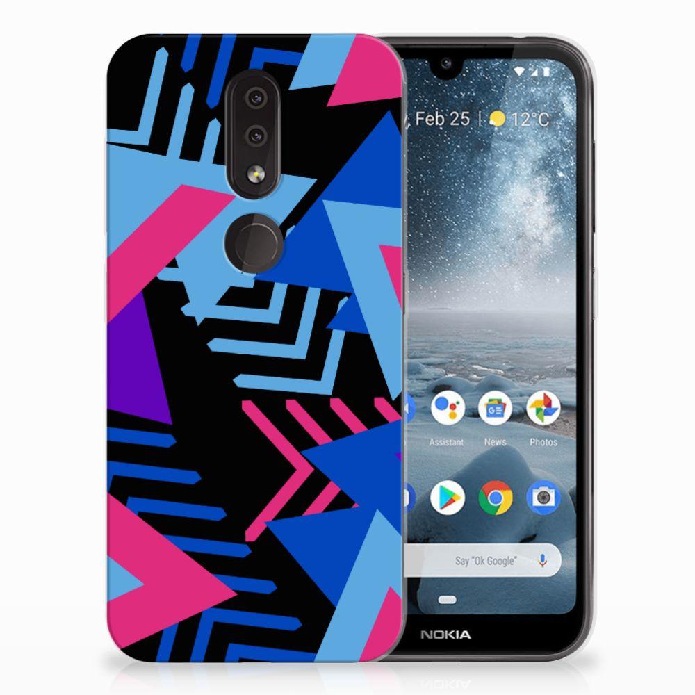 Nokia 4.2 TPU Hoesje Design Funky Triangle