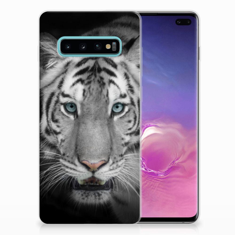 Samsung Galaxy S10 Plus Uniek TPU Hoesje Tijger