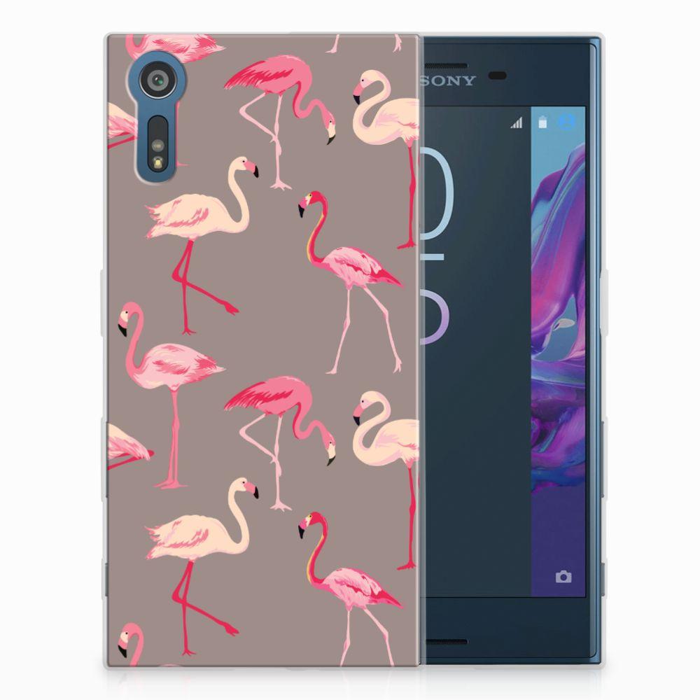 Sony Xperia XZs | XZ Uniek TPU Hoesje Flamingo
