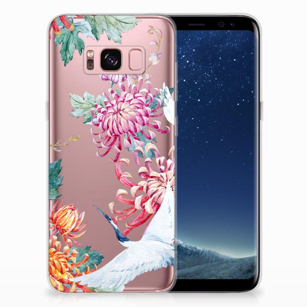 Samsung Galaxy S8 Uniek TPU Hoesje Bird Flowers