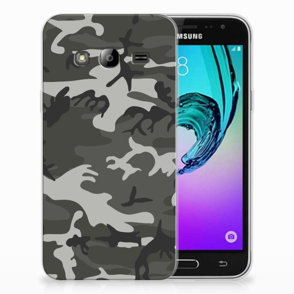 Samsung Galaxy J3 2016 Uniek TPU Hoesje Army Light