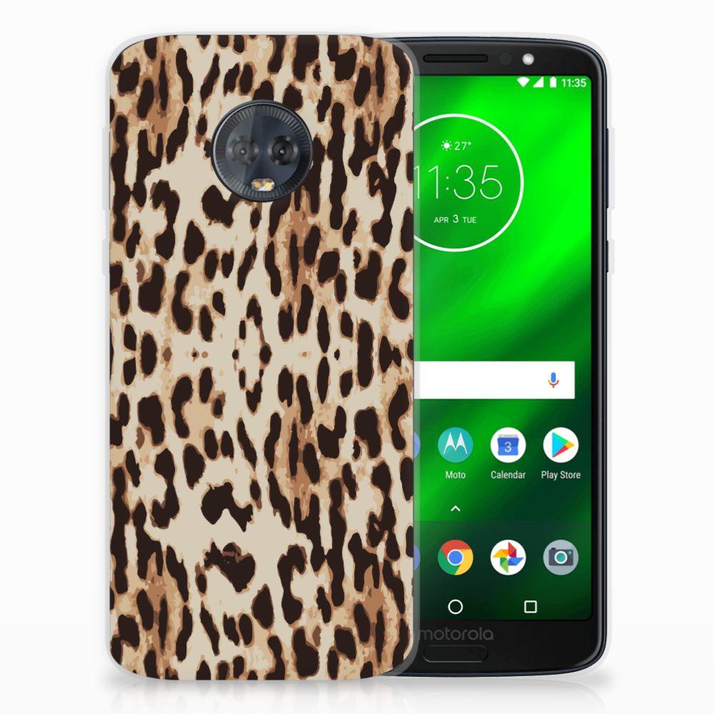 Motorola Moto G6 Plus Uniek TPU Hoesje Leopard