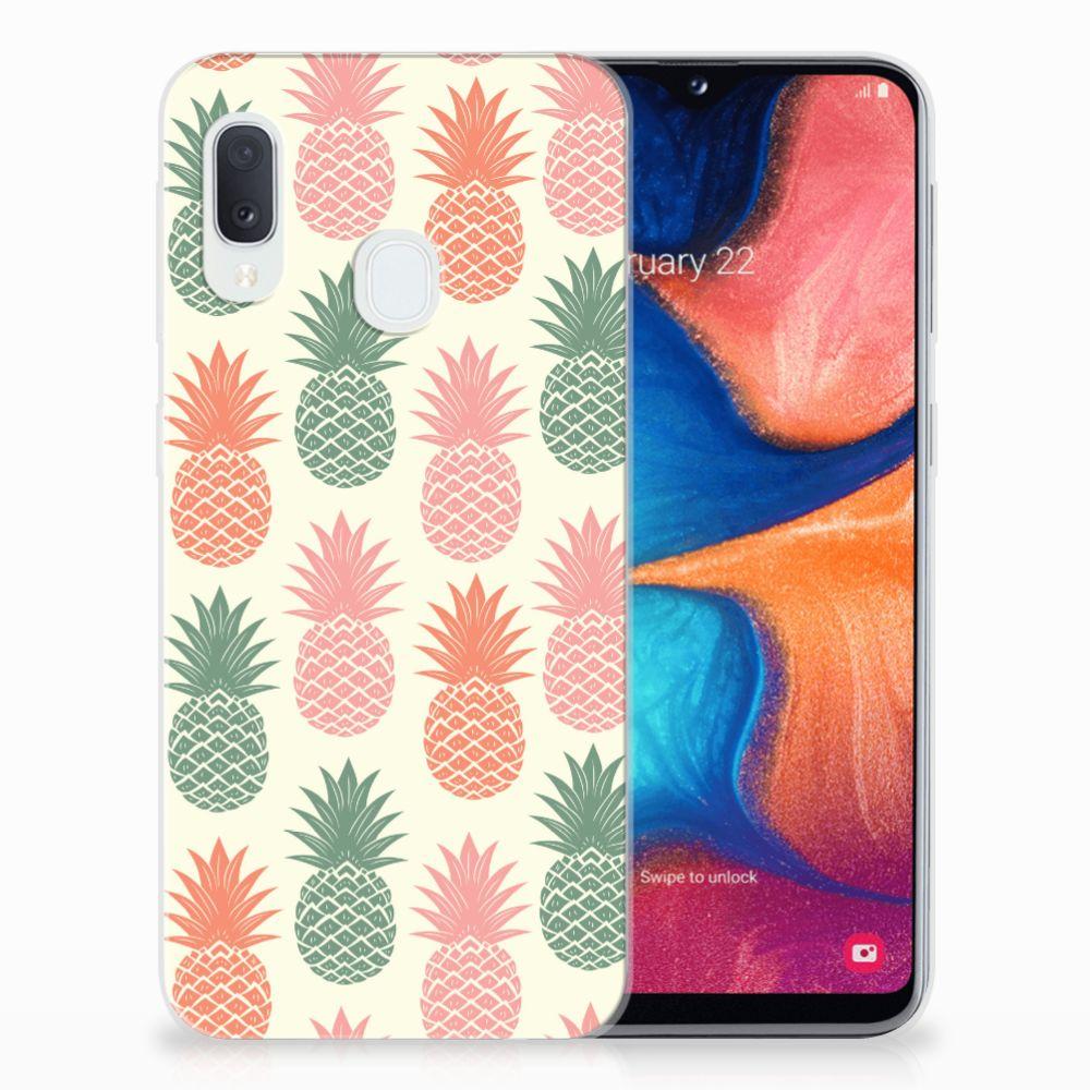 Samsung Galaxy A20e Siliconen Case Ananas