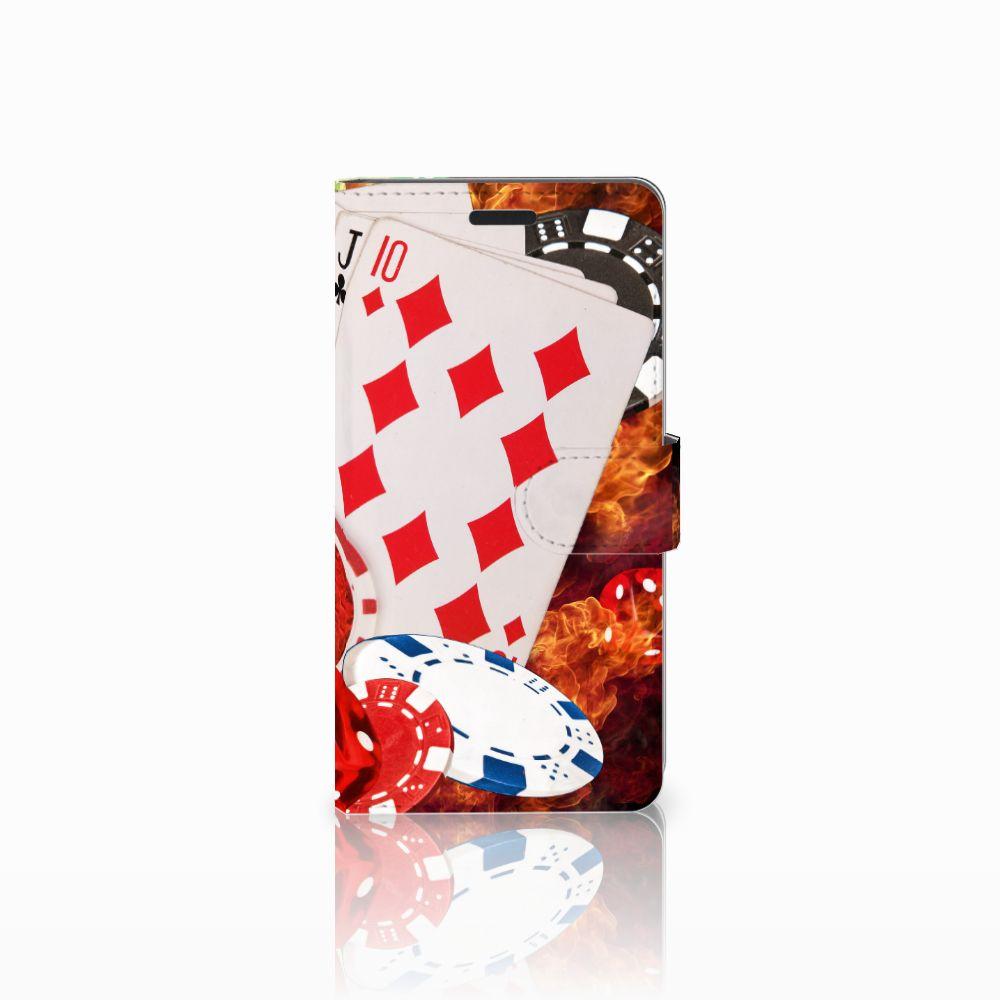 Samsung Galaxy A7 2015 Uniek Boekhoesje Casino