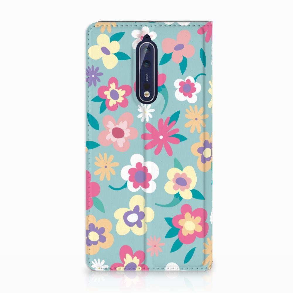 Nokia 8 Standcase Hoesje Design Flower Power