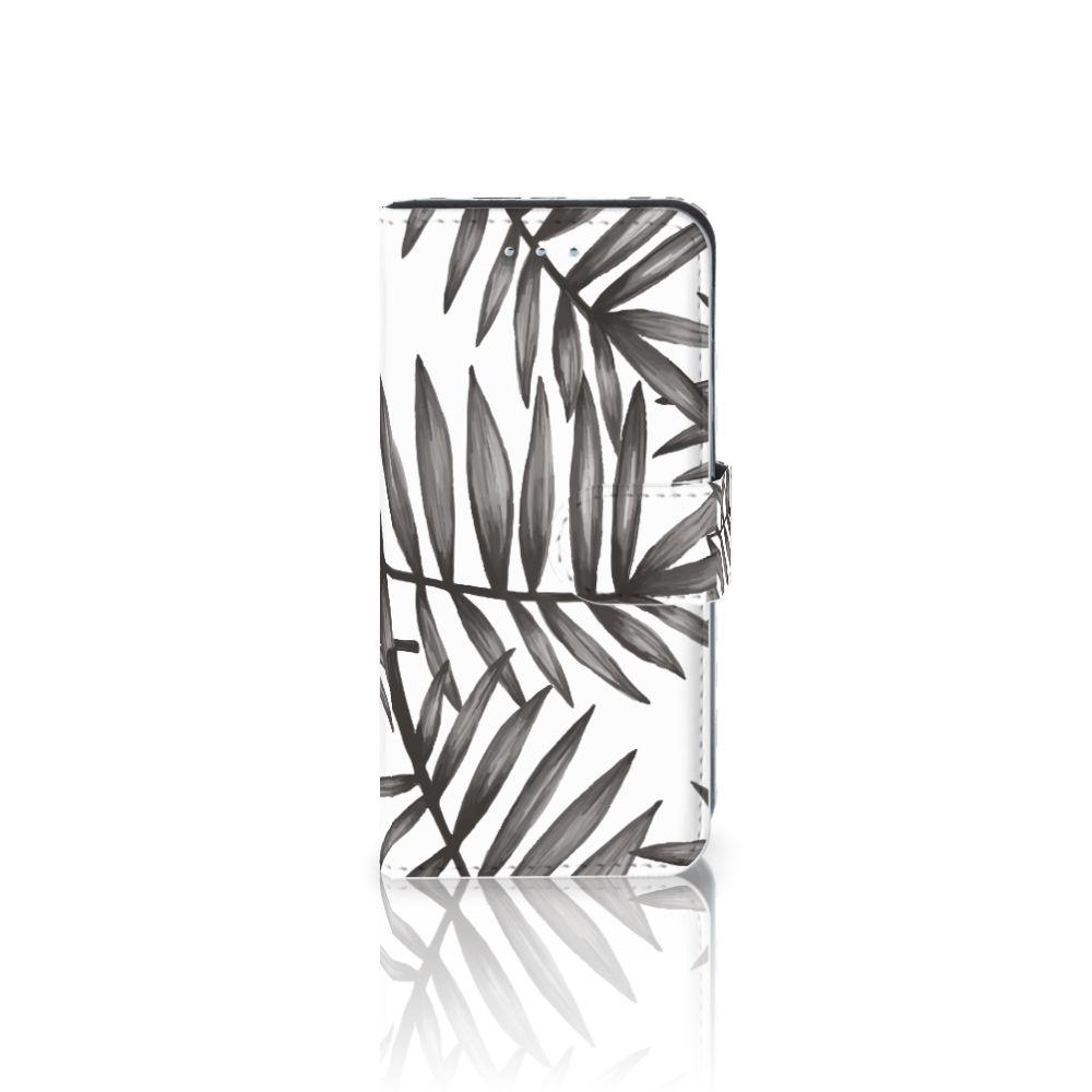 Samsung Galaxy S6 Edge Uniek Boekhoesje Leaves Grey