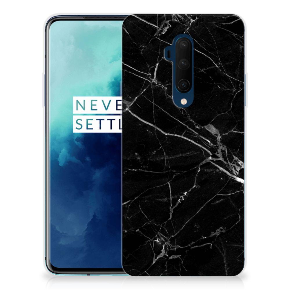 OnePlus 7T Pro TPU Siliconen Hoesje Marmer Zwart