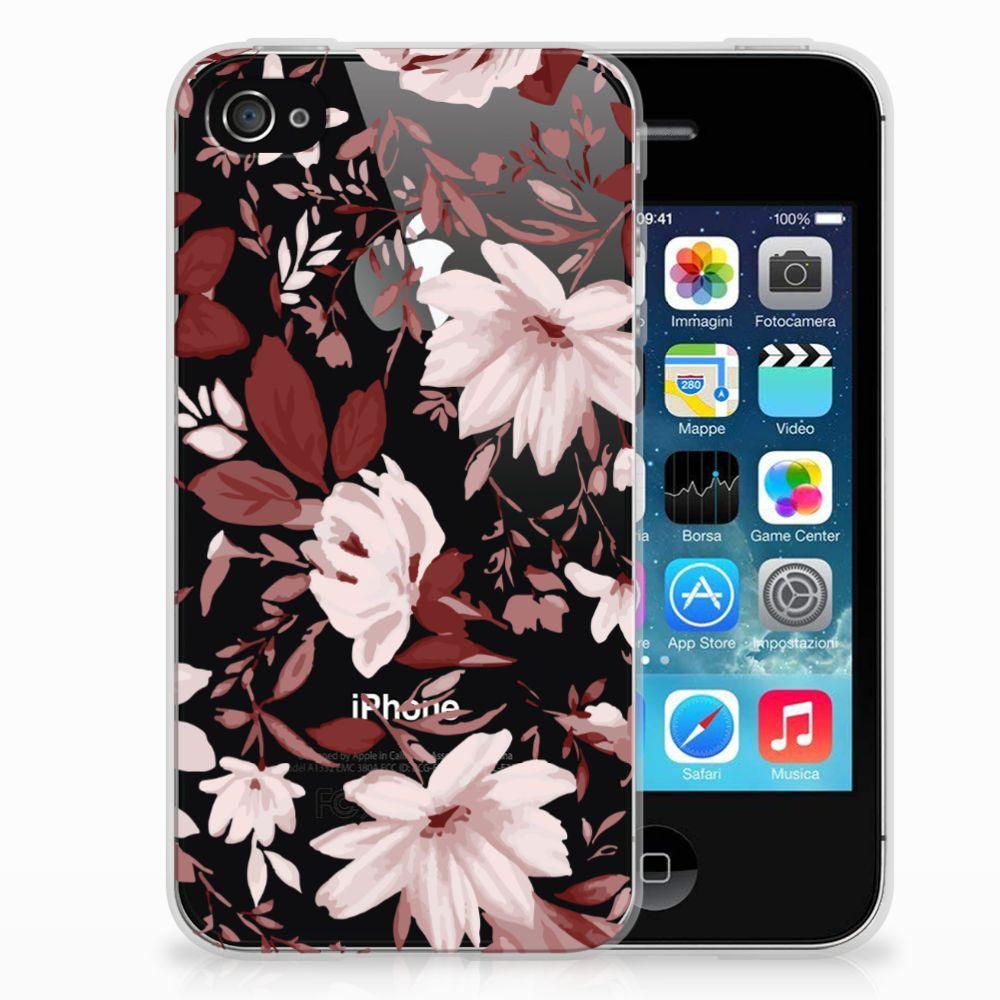Hoesje maken Apple iPhone 4 | 4s Watercolor Flowers