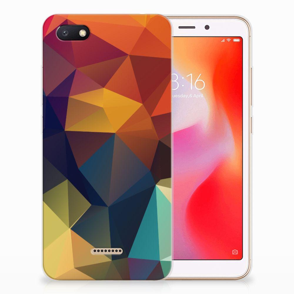 Xiaomi Redmi 6A TPU Hoesje Polygon Color