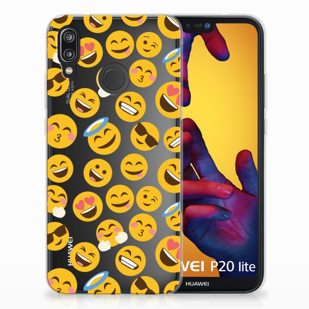 Huawei P20 Lite TPU Hoesje Design Emoji
