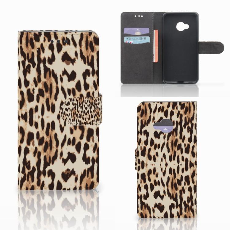HTC U Play Telefoonhoesje met Pasjes Leopard