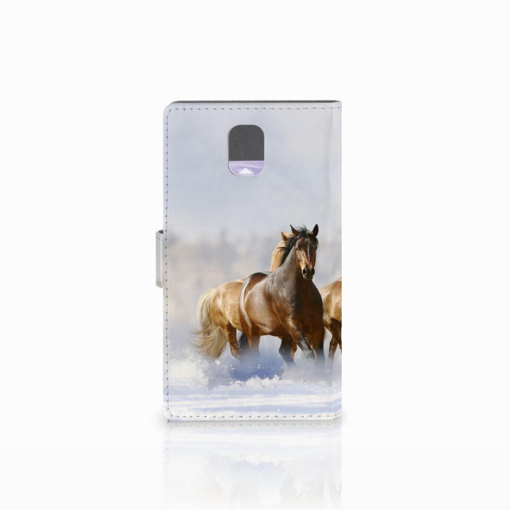 Samsung Galaxy Note 3 Telefoonhoesje met Pasjes Paarden