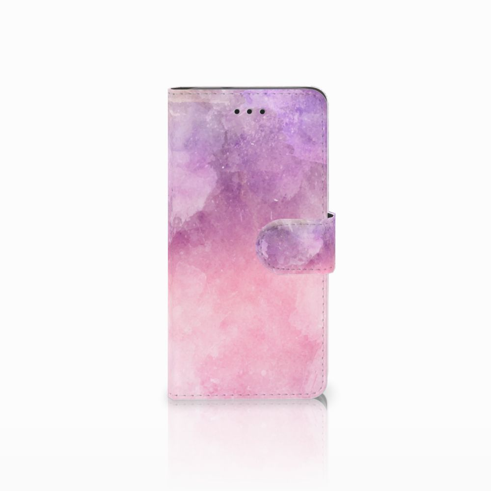Huawei Y3 2017 Boekhoesje Design Pink Purple Paint