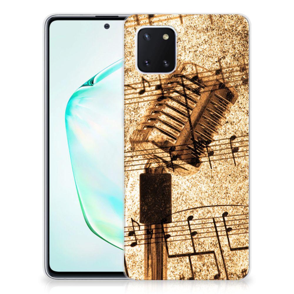 Samsung Galaxy Note 10 Lite Siliconen Hoesje met foto Bladmuziek