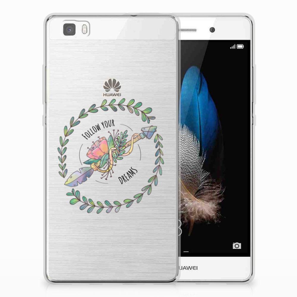 Huawei Ascend P8 Lite Telefoonhoesje met Naam Boho Dreams