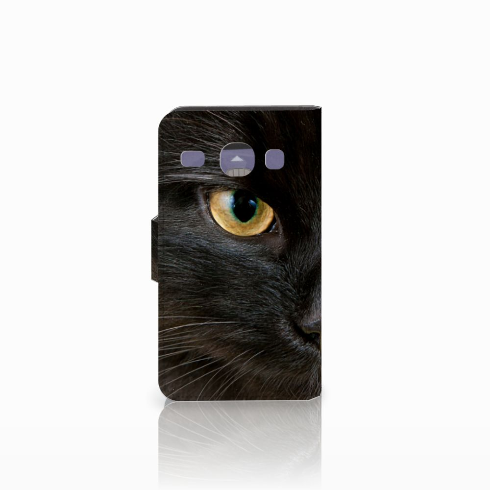 Samsung Galaxy Core i8260 Telefoonhoesje met Pasjes Zwarte Kat
