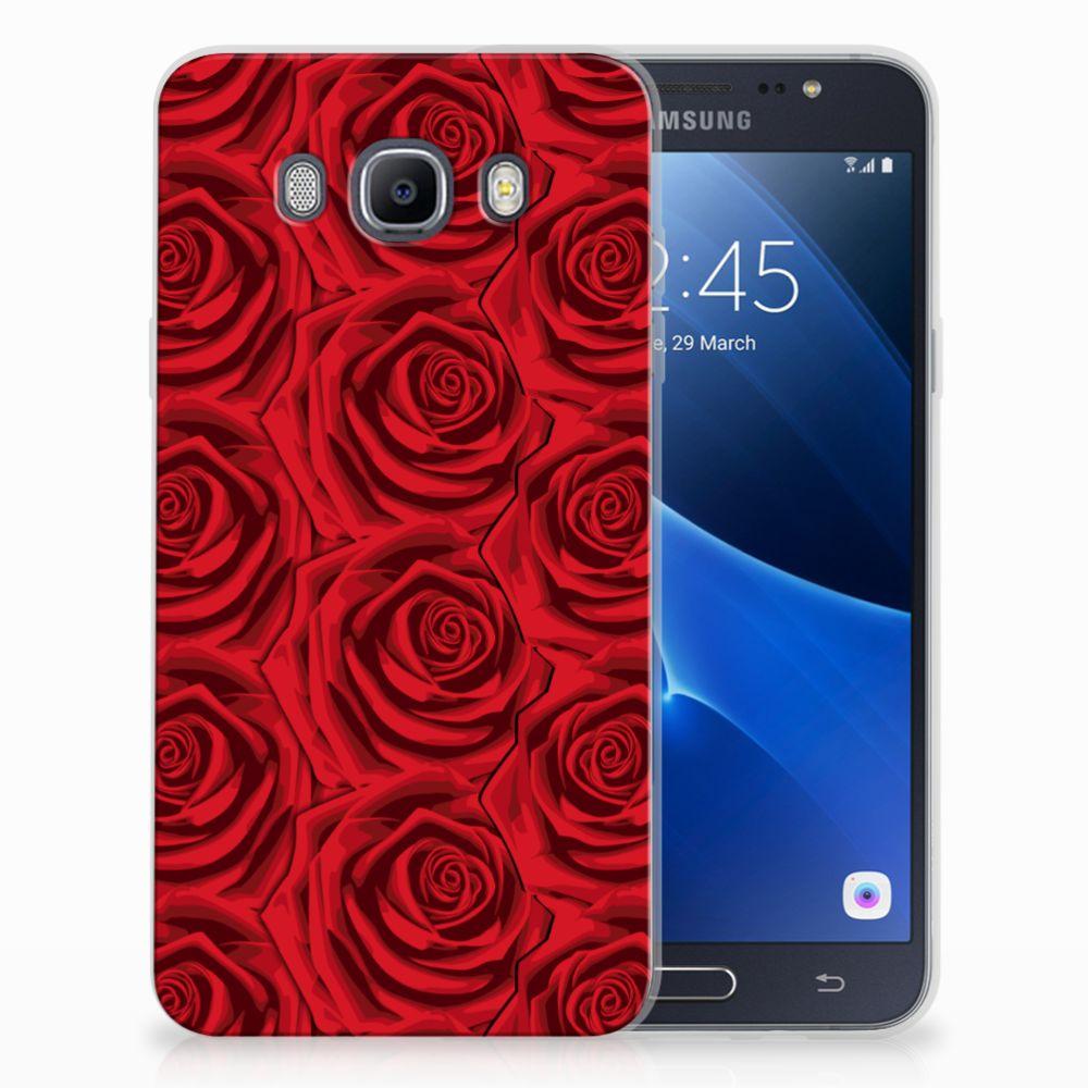 Samsung Galaxy J7 2016 Uniek TPU Hoesje Red Roses