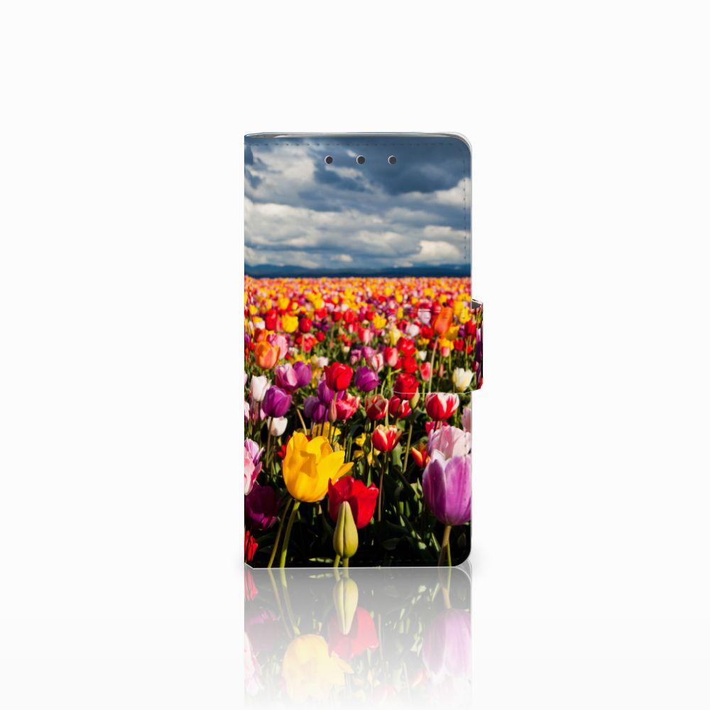 HTC One M7 Uniek Boekhoesje Tulpen