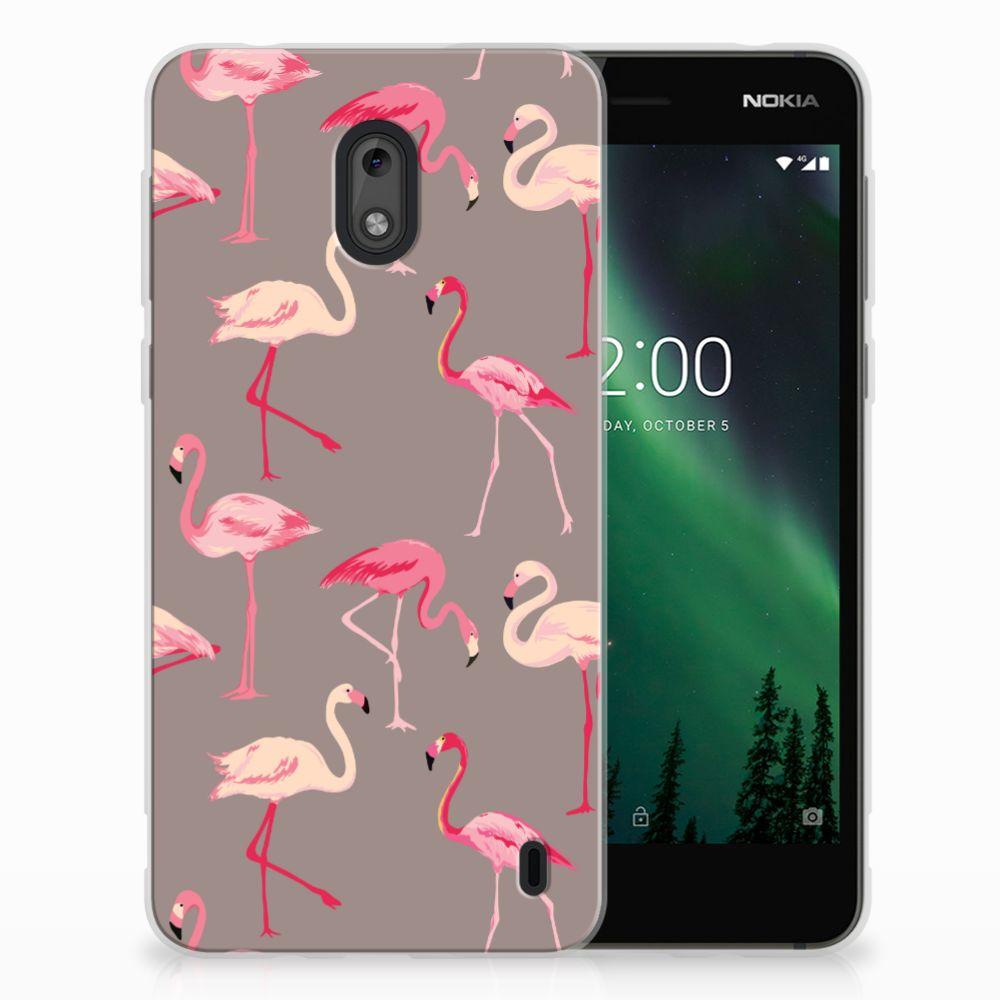 Nokia 2 Uniek TPU Hoesje Flamingo