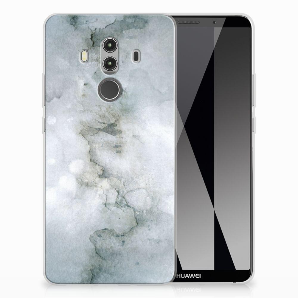 Huawei Mate 10 Pro Uniek TPU Hoesje Painting Grey