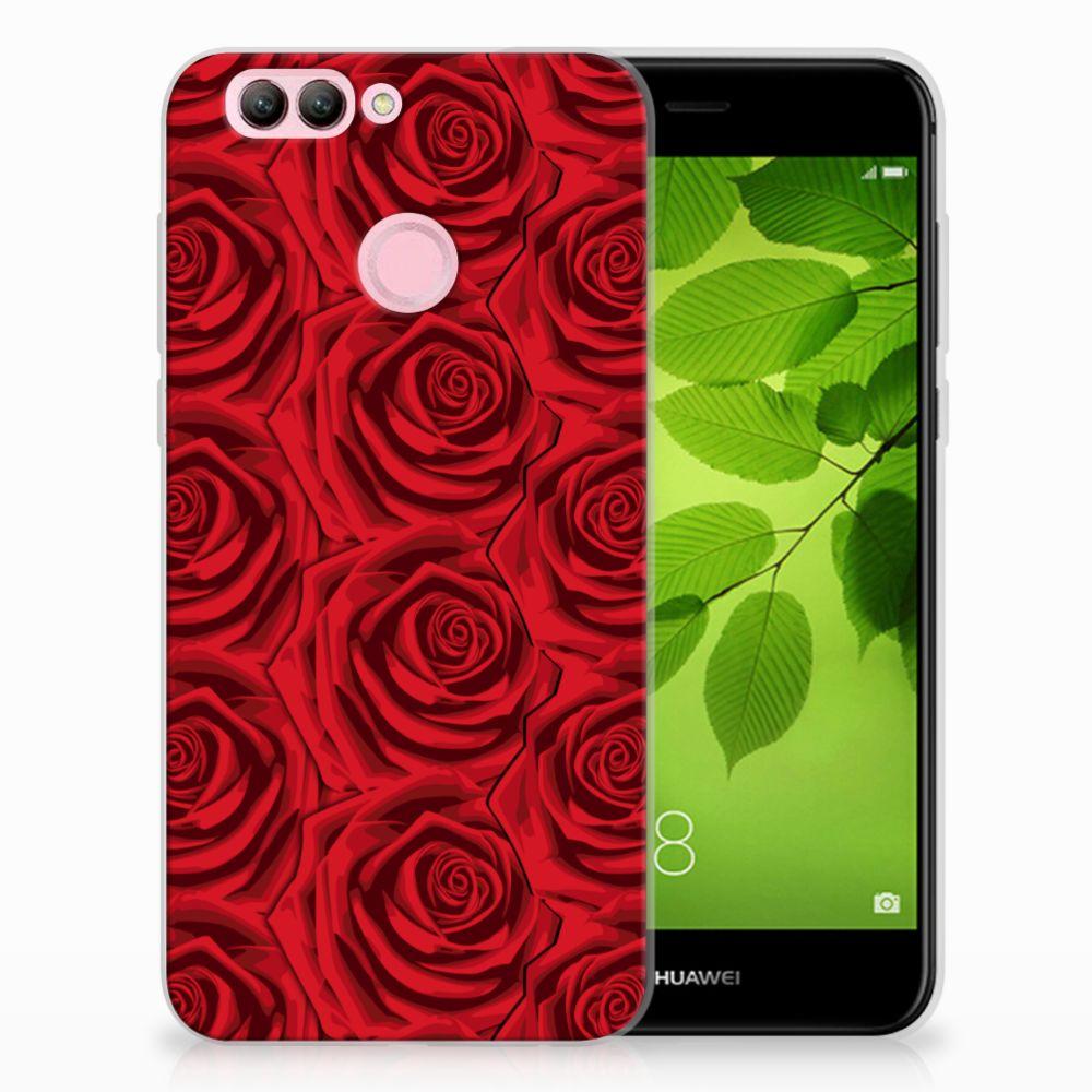 Huawei Nova 2 Uniek TPU Hoesje Red Roses
