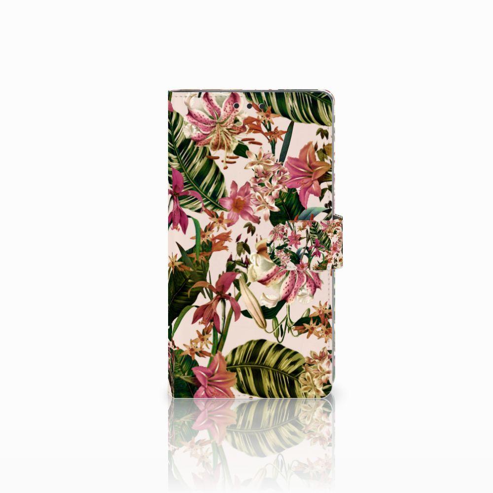 Sony Xperia XA2 Ultra Uniek Boekhoesje Flowers