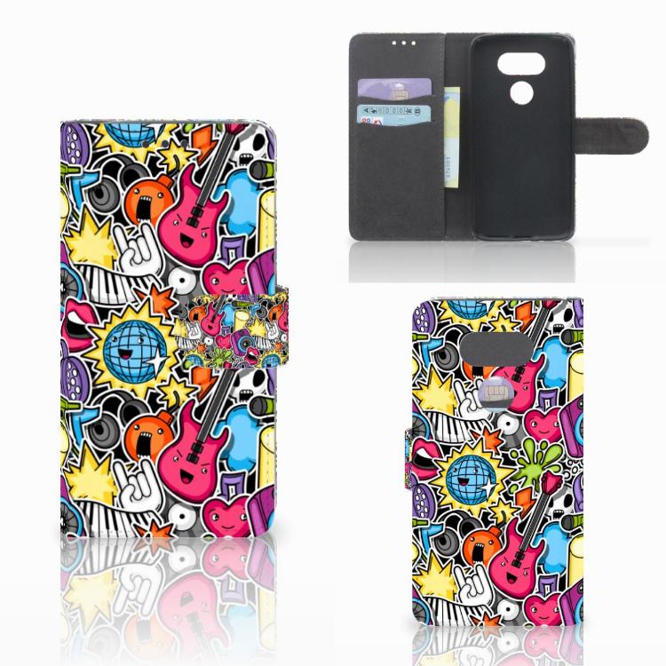 LG G5 Wallet Case met Pasjes Punk Rock