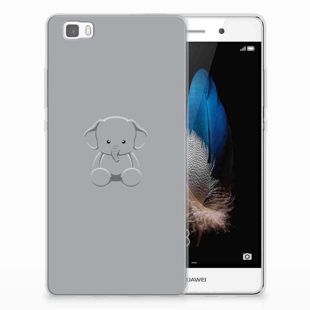 Huawei Ascend P8 Lite Uniek TPU Hoesje Baby Olifant