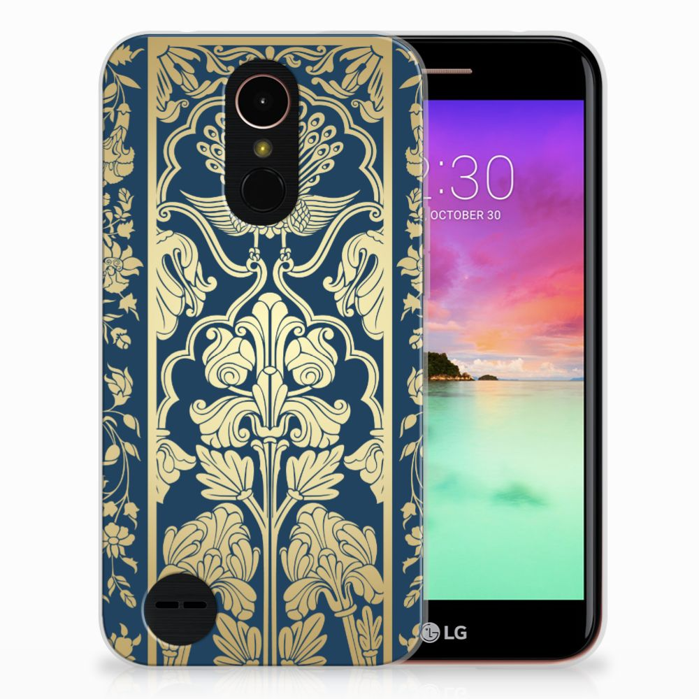LG K10 2017 TPU Case Golden Flowers
