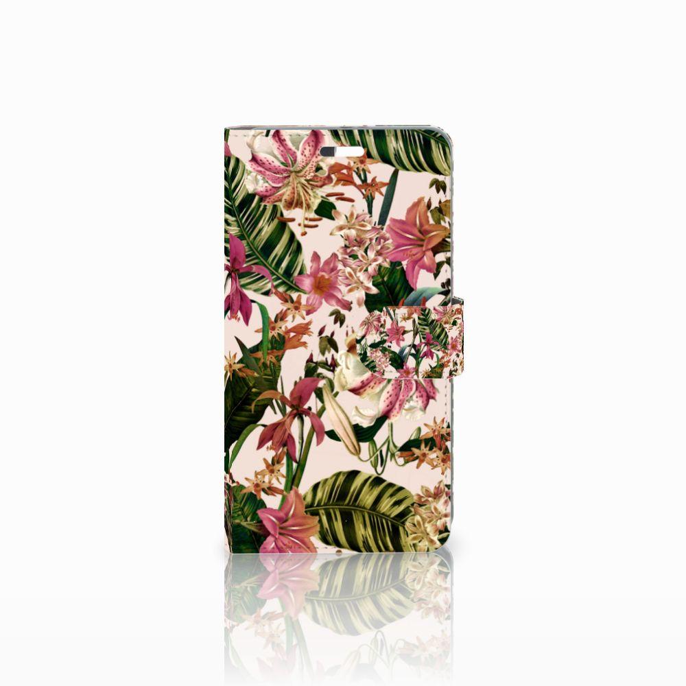 Huawei P9 Plus Uniek Boekhoesje Flowers