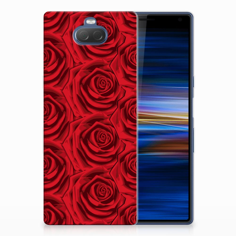 Sony Xperia 10 Plus Uniek TPU Hoesje Red Roses