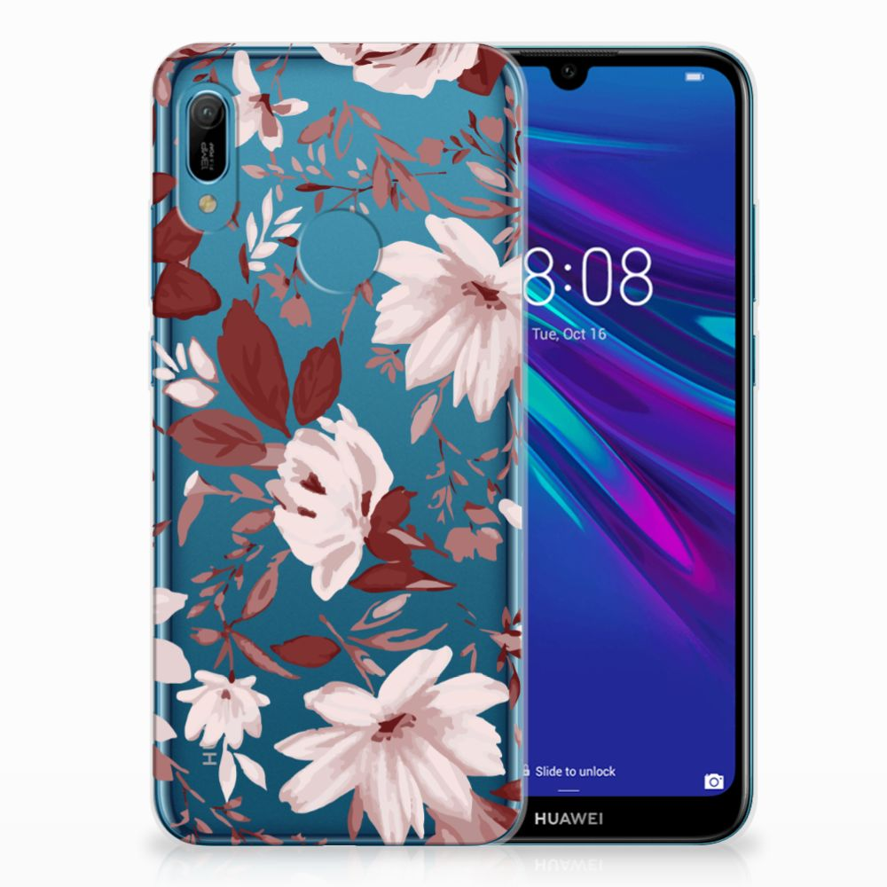 Hoesje maken Huawei Y6 2019 | Y6 Pro 2019 Watercolor Flowers