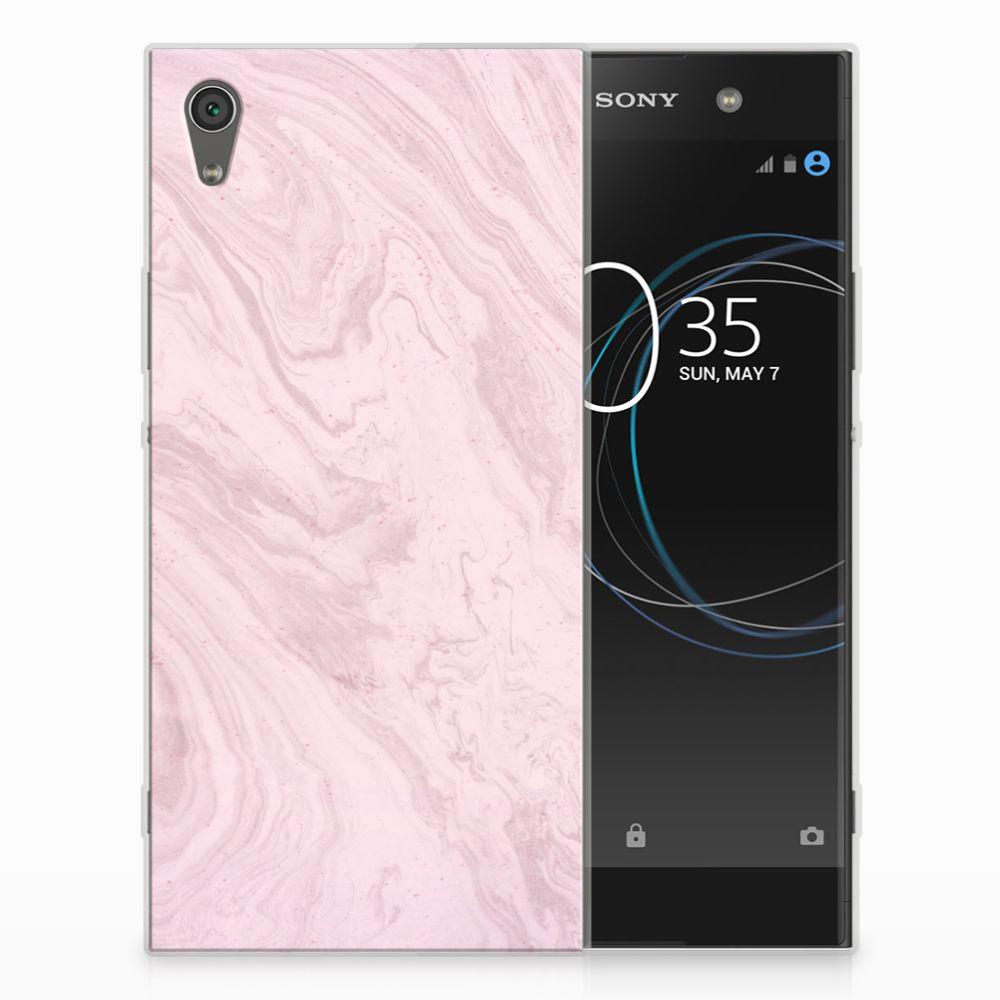 Sony Xperia XA1 Ultra TPU Hoesje Marble Pink