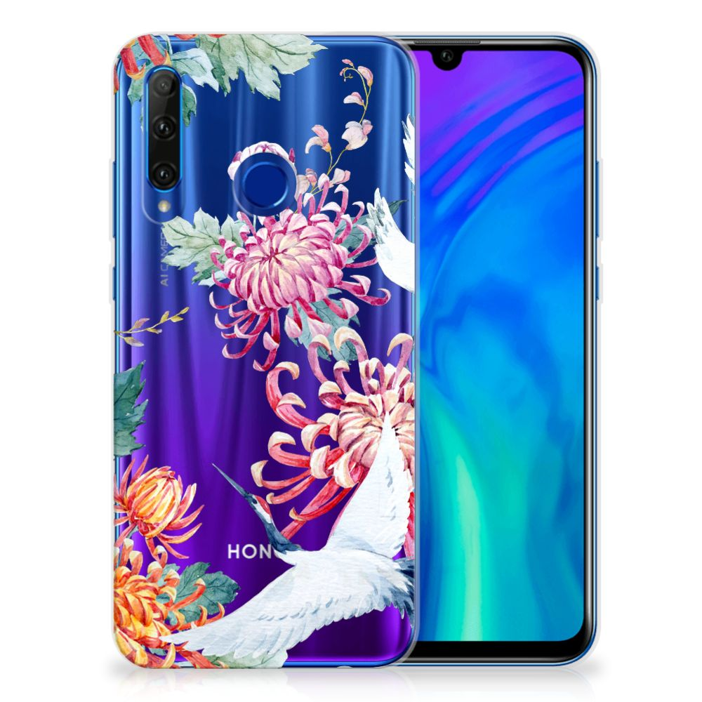 Honor 20 Lite TPU Hoesje Bird Flowers