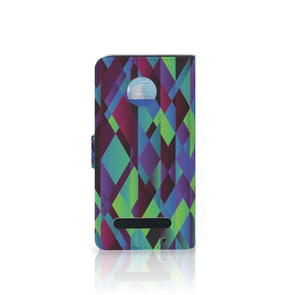 Motorola Moto Z2 Play Bookcase Abstract Green Blue