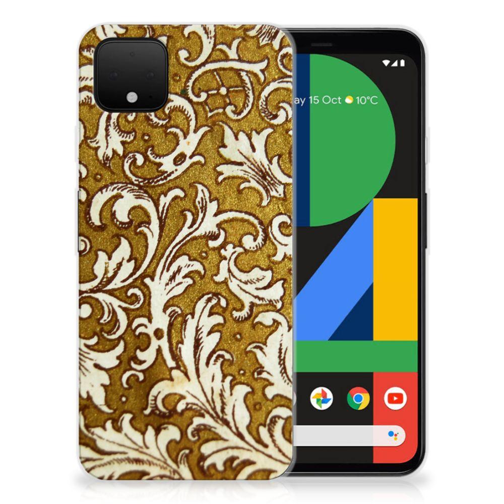Siliconen Hoesje Google Pixel 4 XL Barok Goud