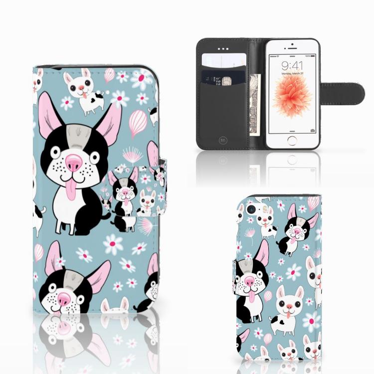 Apple iPhone 5 | 5s | SE Telefoonhoesje met Pasjes Hondjes