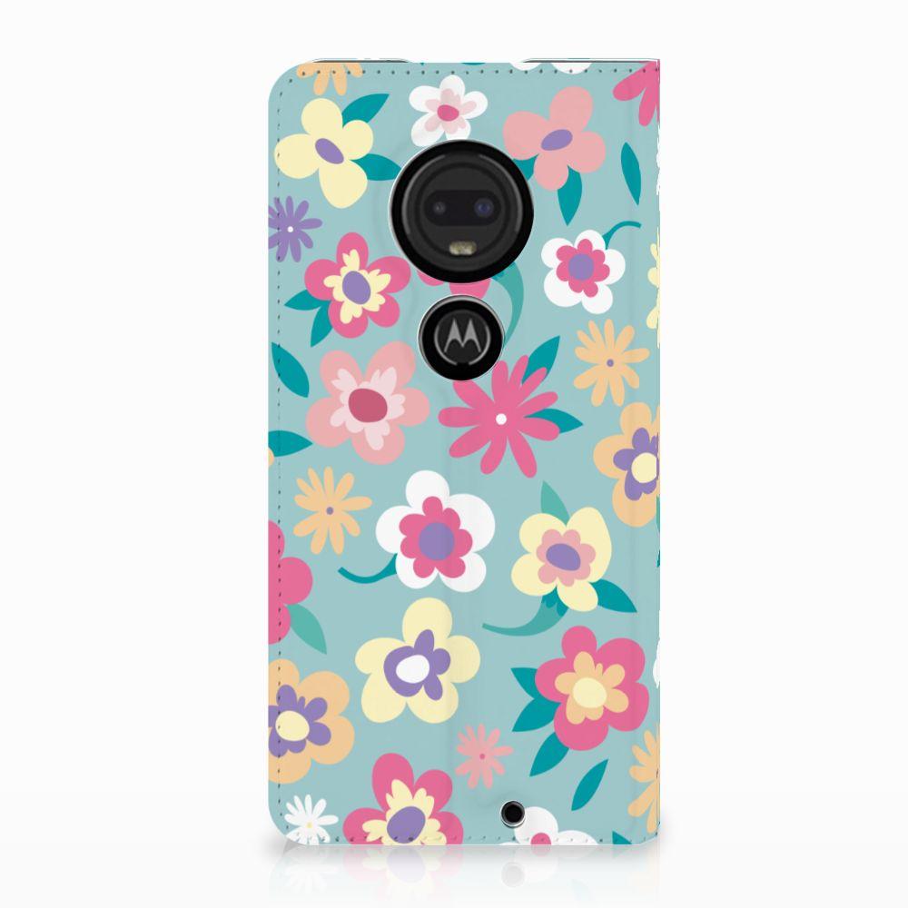Motorola Moto G7 | G7 Plus Standcase Hoesje Design Flower Power