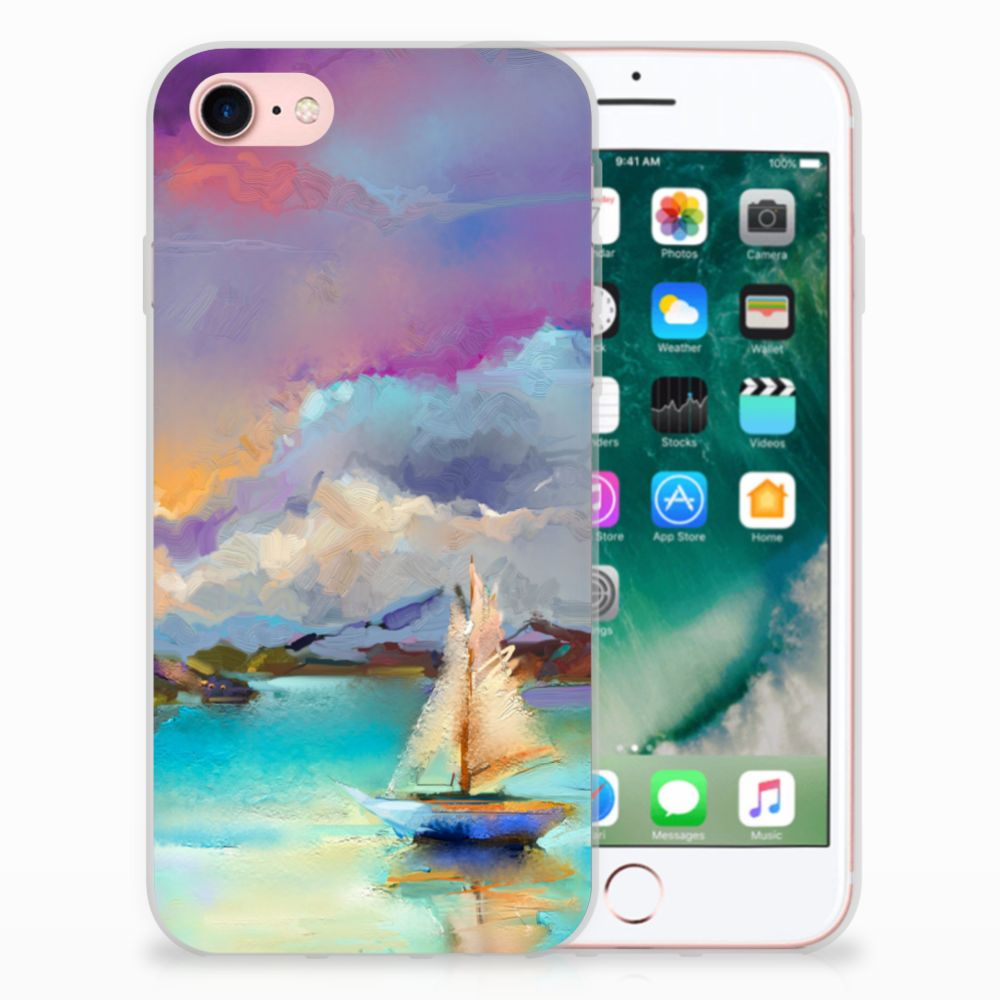 Apple iPhone 7 | 8 Uniek TPU Hoesje Boat