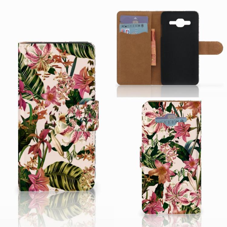 Samsung Galaxy J2 2016 Hoesje Flowers