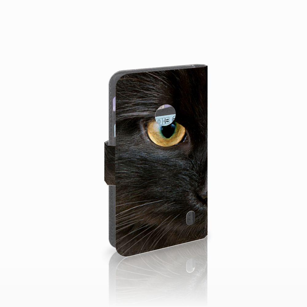 Nokia Lumia 520 Uniek Boekhoesje Zwarte Kat