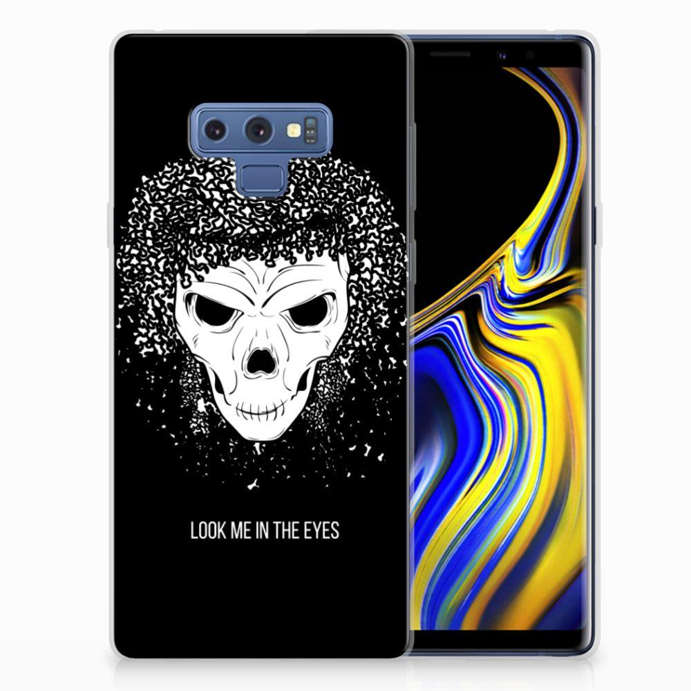 Silicone Back Case Samsung Galaxy Note 9 Skull Hair