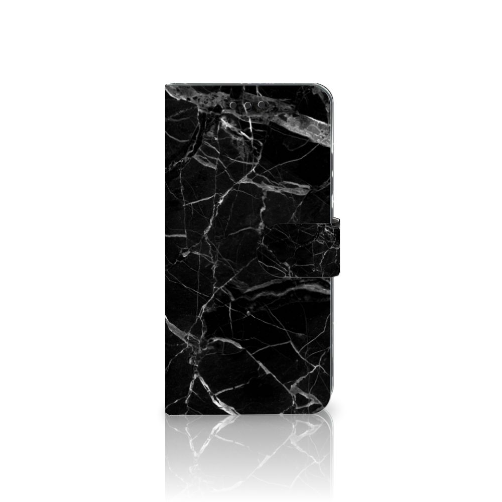 Nokia 7 Plus Uniek Boekhoesje Marmer Zwart